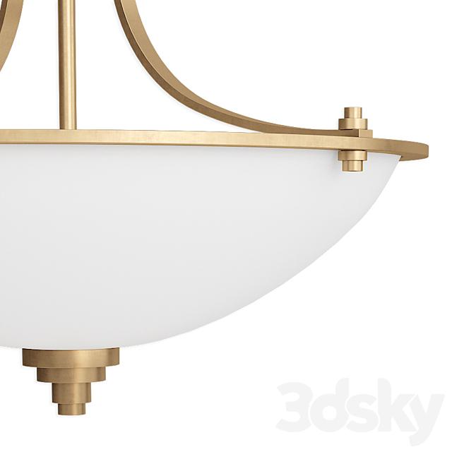 Castano 3 - Light Simple Bowl Semi Flush Mount