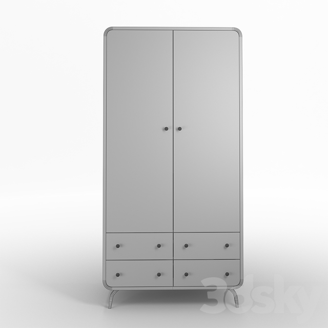 Ellipse cabinet with drawers