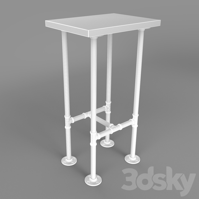 Bar table made with iron pipes