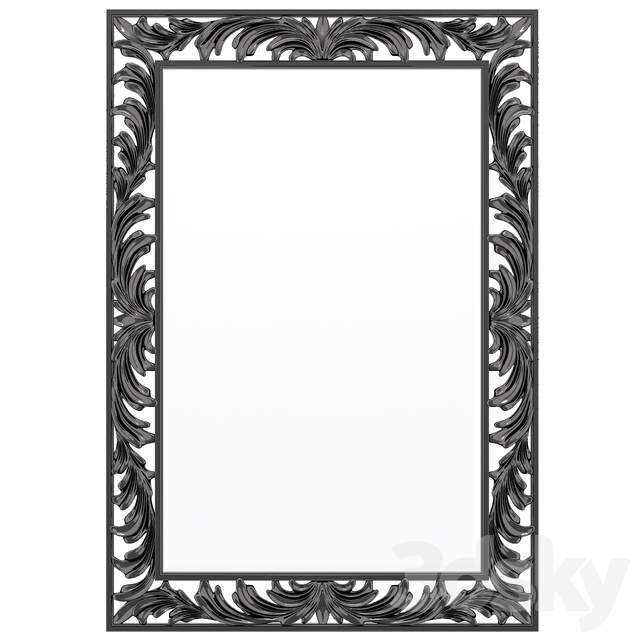 christopher guy gris feathers mirror
