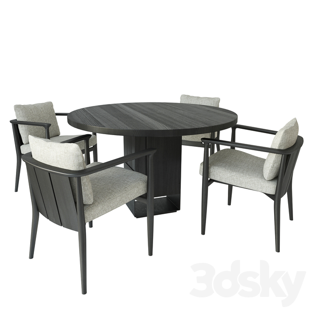 Kitale table by Van Rossum with Arne Chair by Casamilano