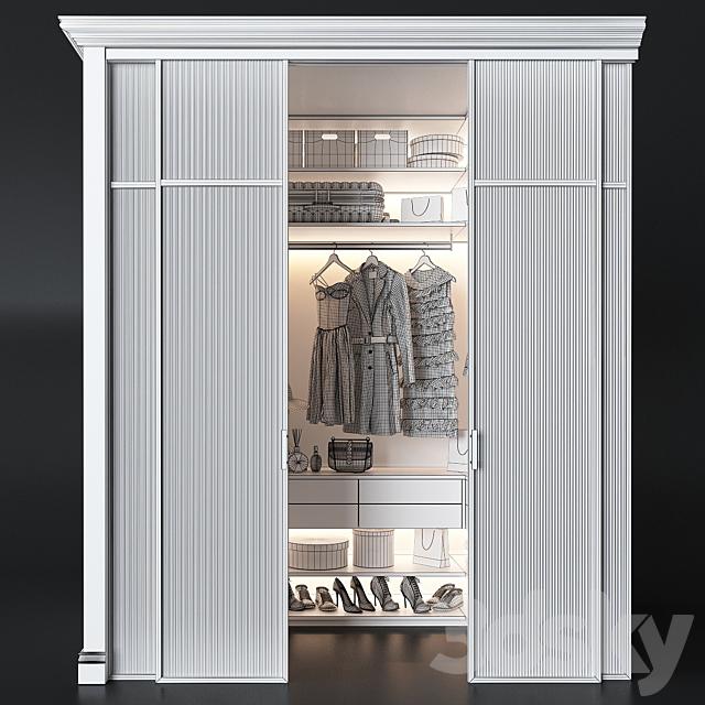 Wardrobe unit in the bedroom