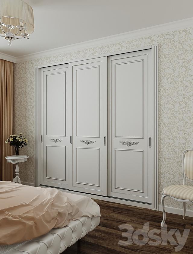 Built-in sliding wardrobe
