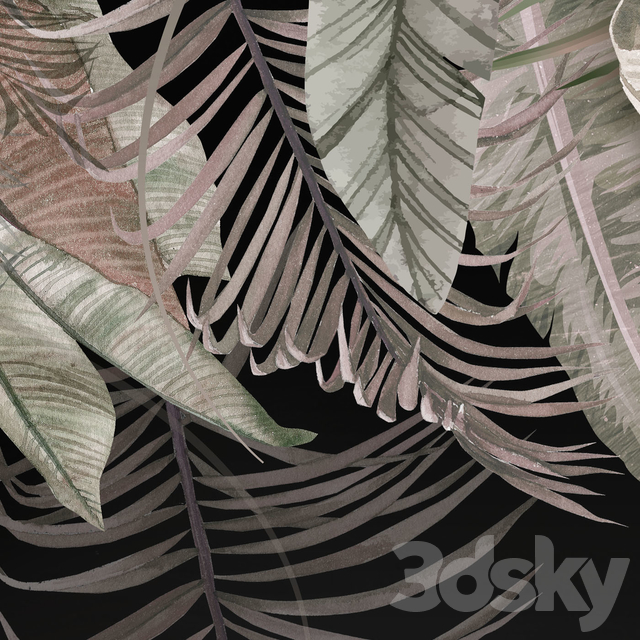 Creativille   Wallpapers   42402 Tropical leaves