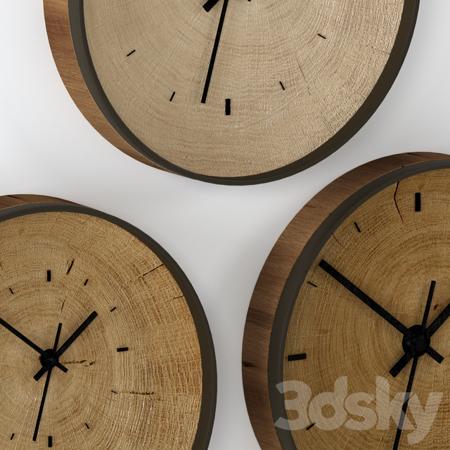 Wall clock made of slab.