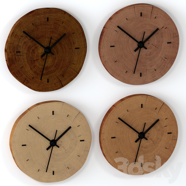 Set of wall clock from slab.