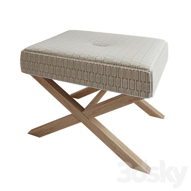 Lacrosse stool ottoman pouf