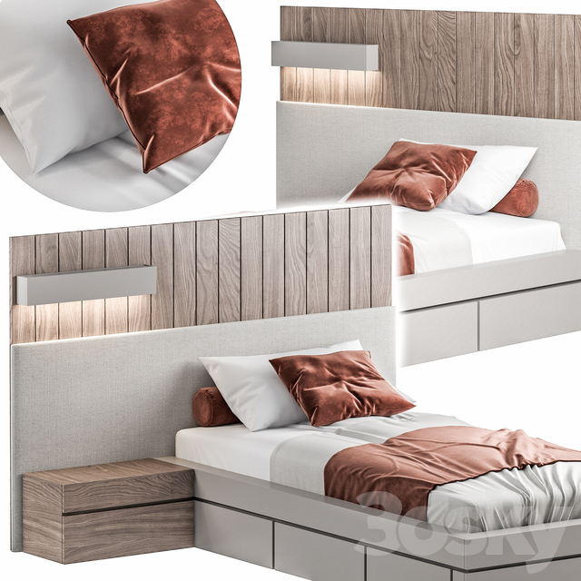 Bed033-Single Bed