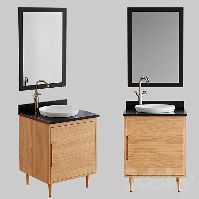 3d Models Bathroom Furniture 24 Bivins Teak Bathroom Vanity Vessel Sink
