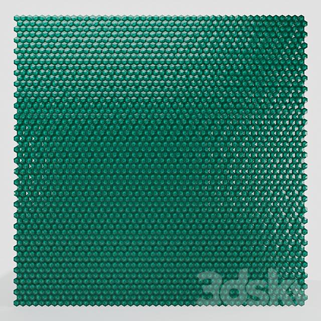 Turquoise Ceramic tile hexagon pyramid Corona