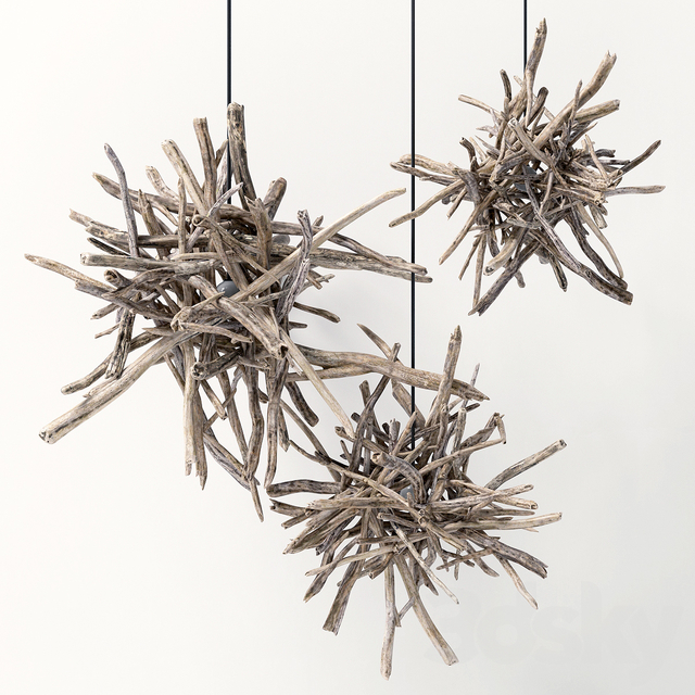 Branch decor lamp n1 / Lamps from branches