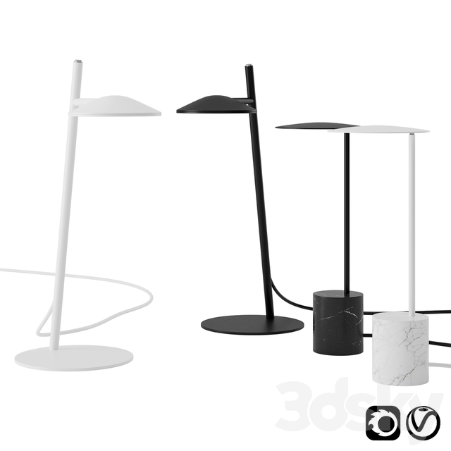 Circles and Rising Table Lamp by Millelumen
