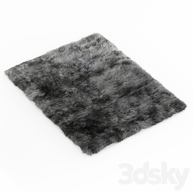 Shaggy Sheepskin Gray Rug