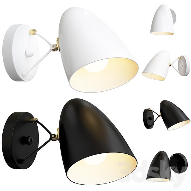 JLYLITE wall lamp Black / White