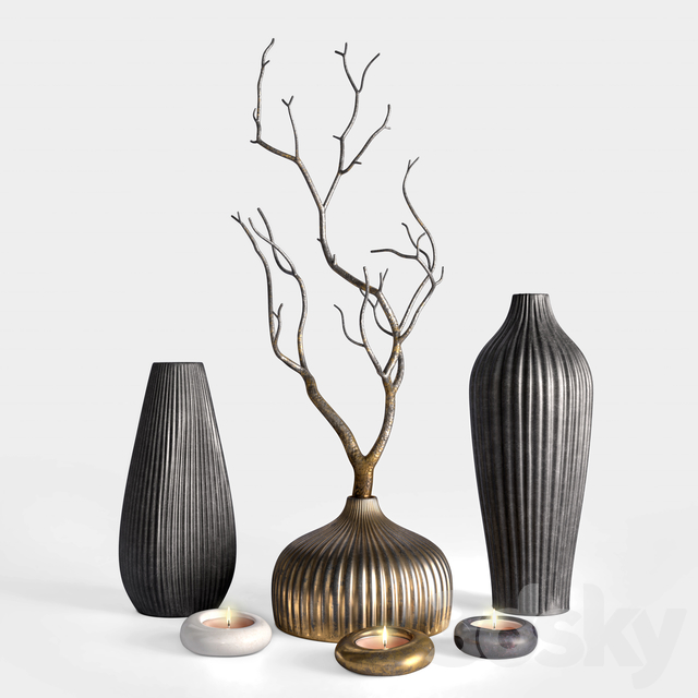 Decor - Vases and Branch