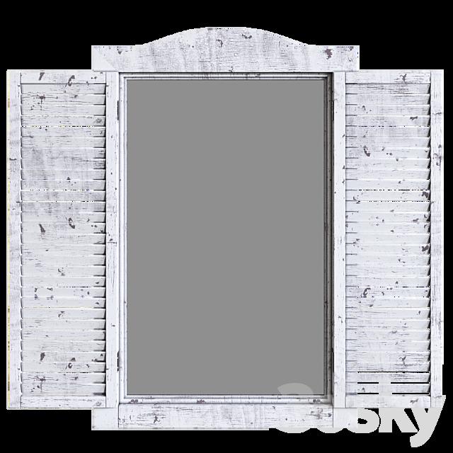 Ocean - White Window Mirror