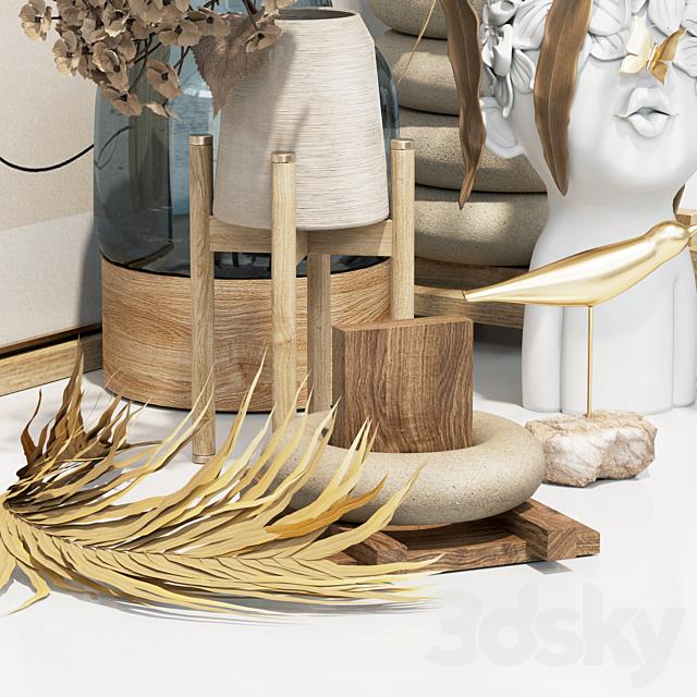 Decorative set - dried flower