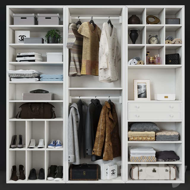 3d Models Wardrobe Display Cabinets Cabinet Classic Modular