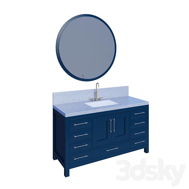 3d Models Bathroom Furniture Kendall Blue Bathroom Vanity