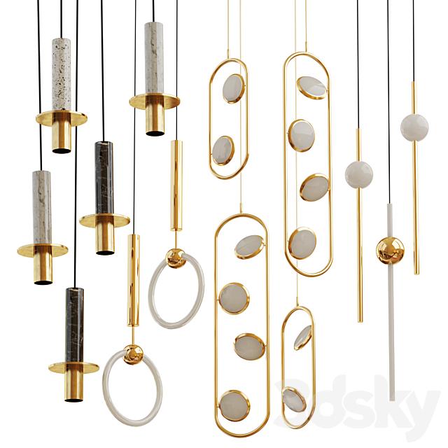 Set from suspendeds chandeliers Lee Broom