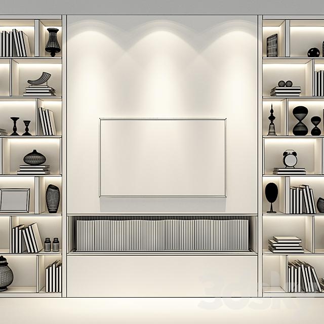 TV wall set 55