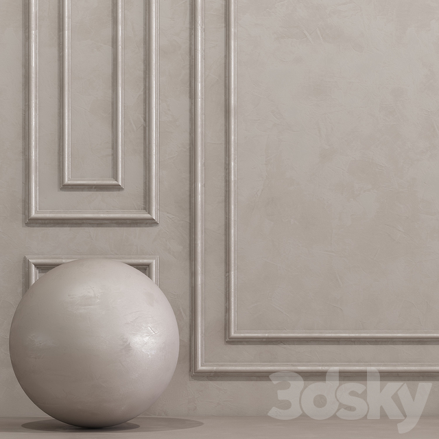Decorative plaster with molding 8