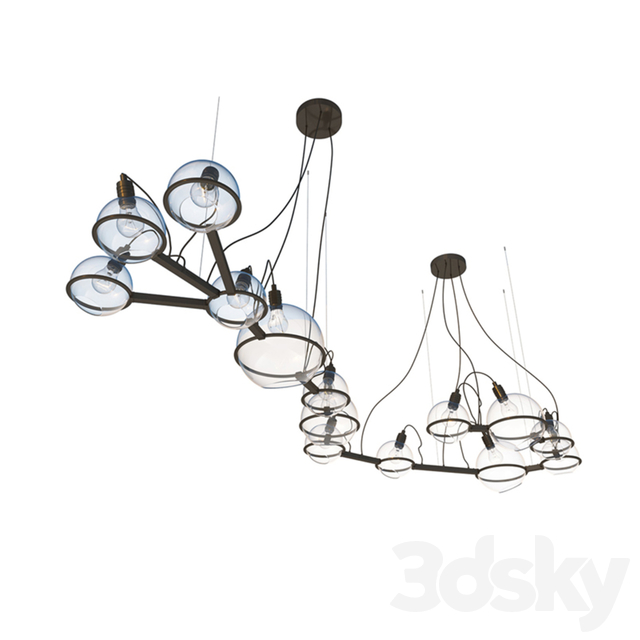 "Chandelier ""Scorpio"" (Scorpio Constellation) art. 20900 from Pikartlights & Let's Design"