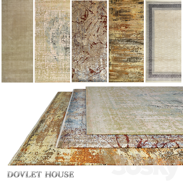 Carpets DOVLET HOUSE 5 pieces (part 498)