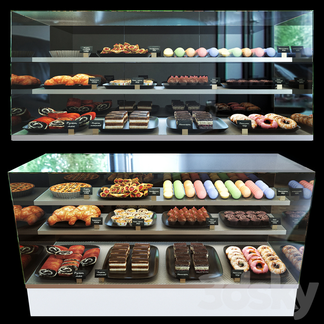 Refrigerated confectionery display case