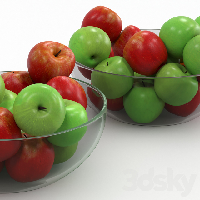 Apples in the bowl