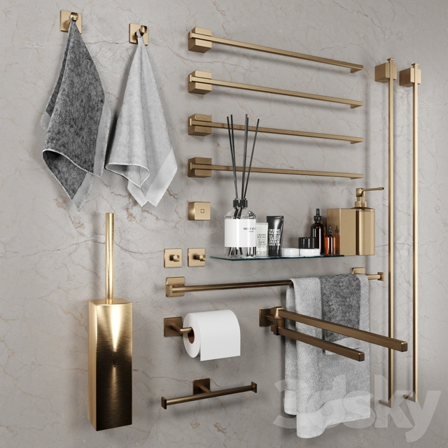 bathrooom accessories copper