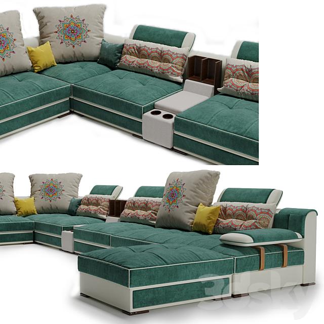 Modern Luxury U Type Fabric Sofa