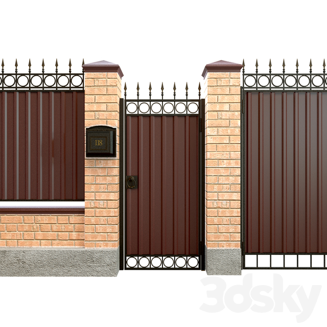 Fence with gate and wicket 5