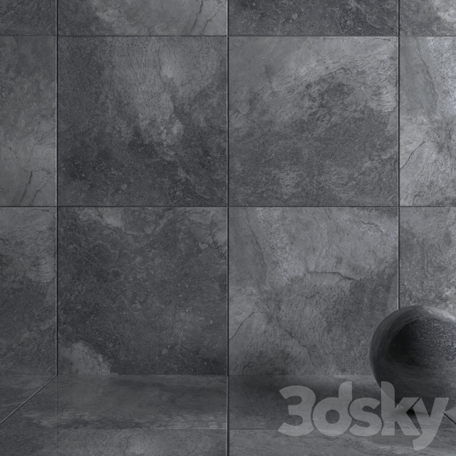 Wall Tiles Bizantino Argento Set 3