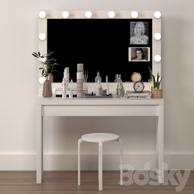 Dressing table ikea with decoration