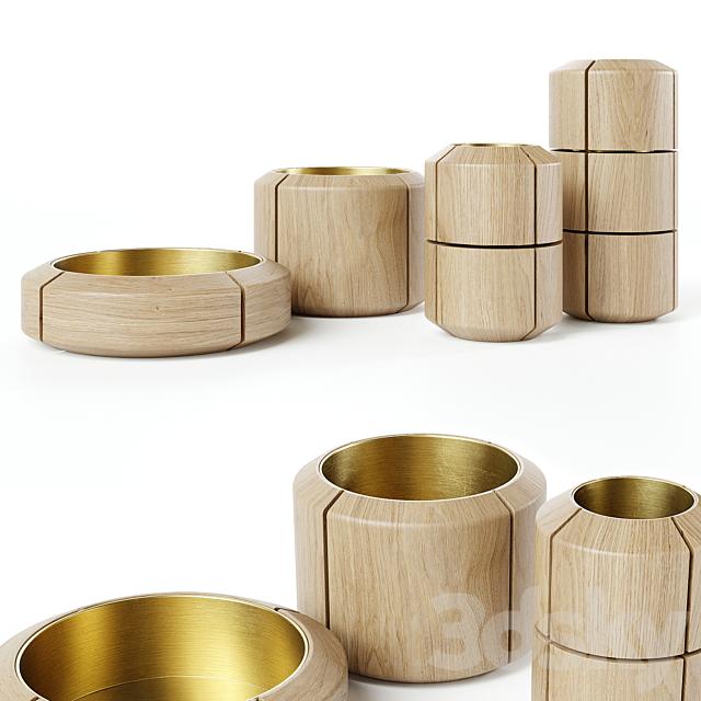 Kookudesign - Composition vase & Bowls by Dan Yeffet