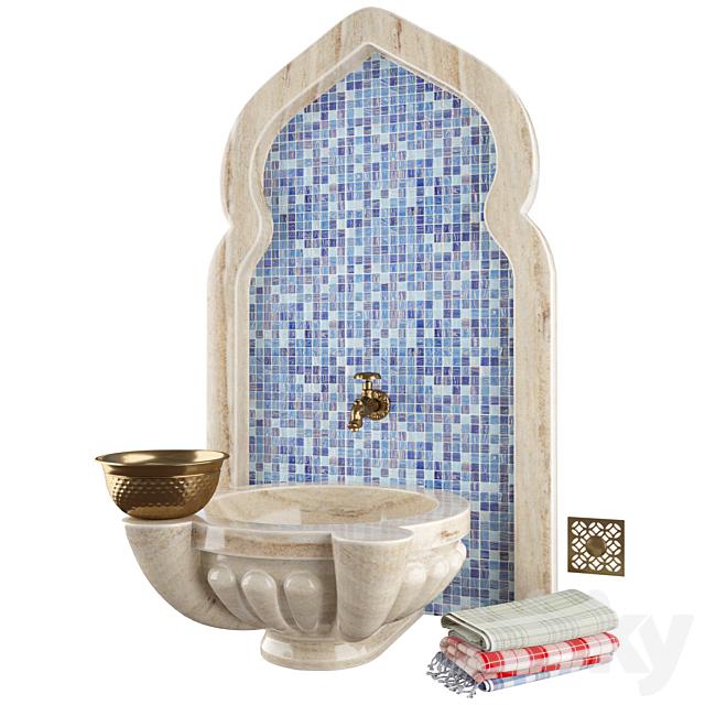 3d Models Bathroom Accessories Hammam Set 2
