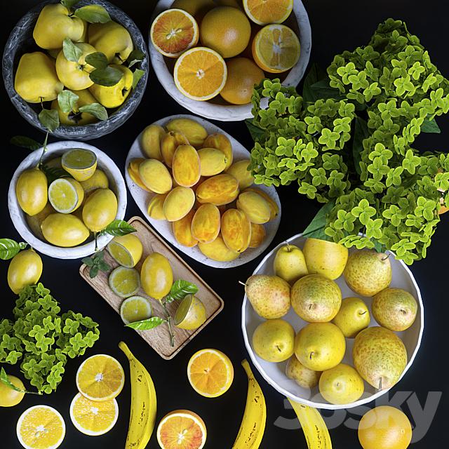 Fruits. Orange / yellow