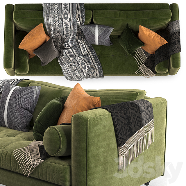 Article sven sofa Green-02