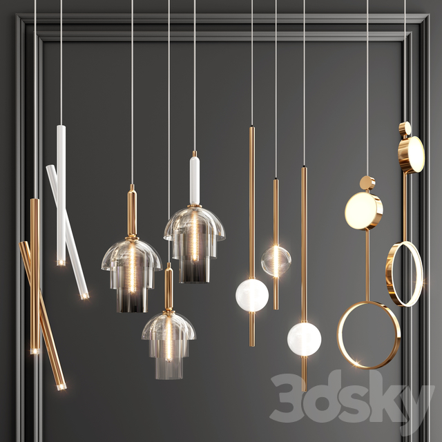 Four Pendant Lights set vol. 05