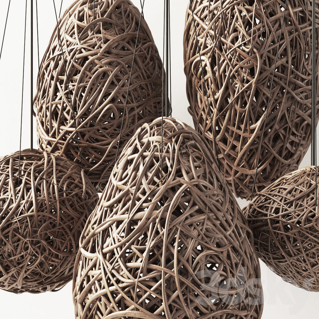 """Branch decor lamp egg n1 / Chandeliers from branches """"egg"""""""