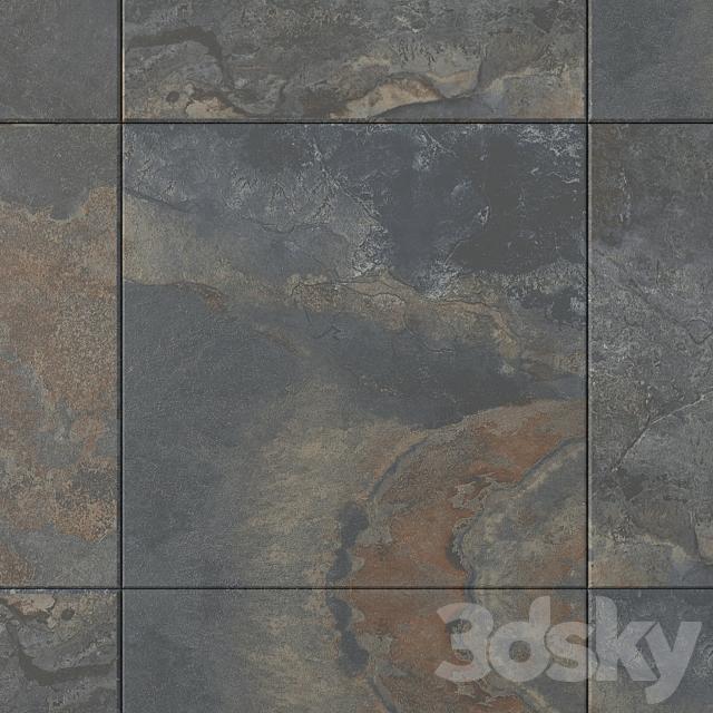 Stone Wall Tiles Kayah Rust Set 3