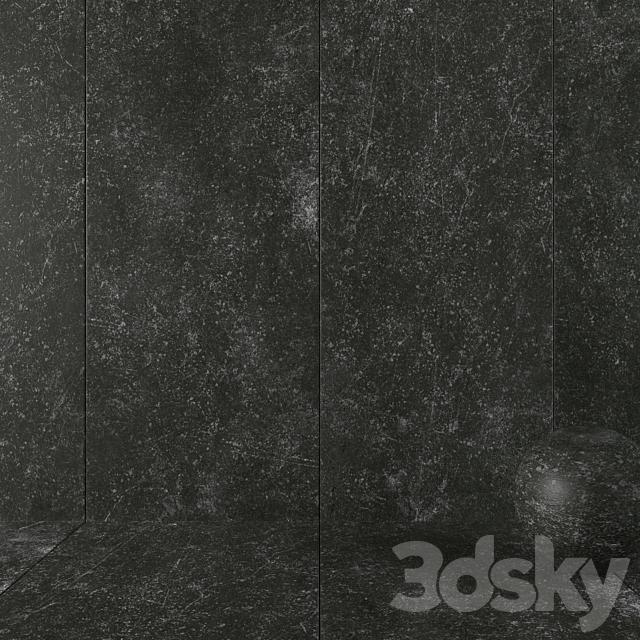 Stone Wall Tiles Kibo Black Set 1