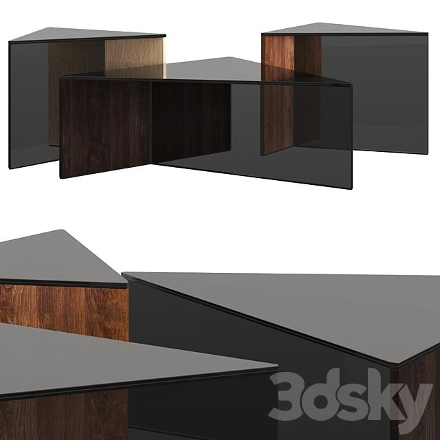 Sovet Italia Regolo Triangular Coffee Tables