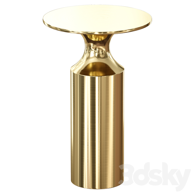 Valter Brass Drink Table (Crate and Barrel)