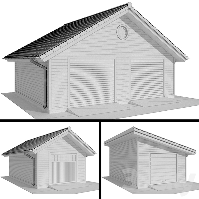 Garage with siding for one and two cars