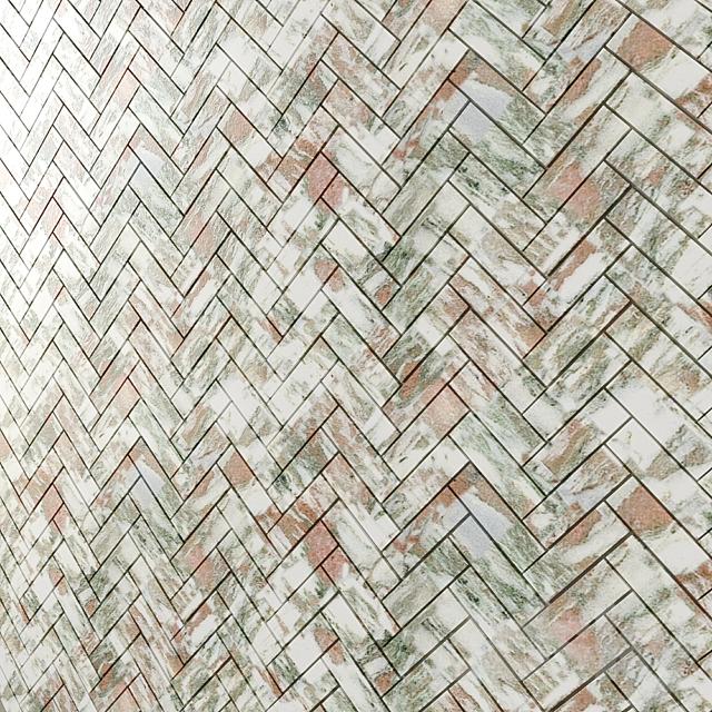 Honed Marble Herringbone Mosaic 3 types