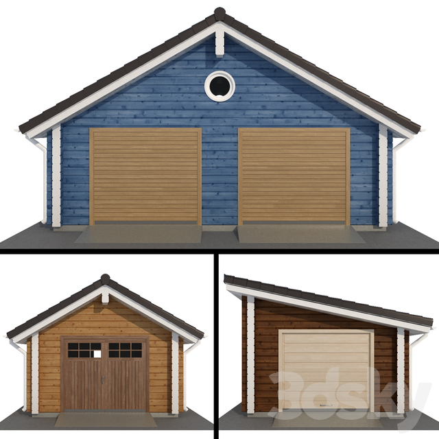 Lumber garage for one and two cars
