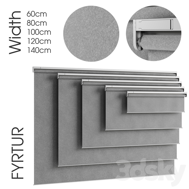 FYRTUR Ikea block-out roller blind