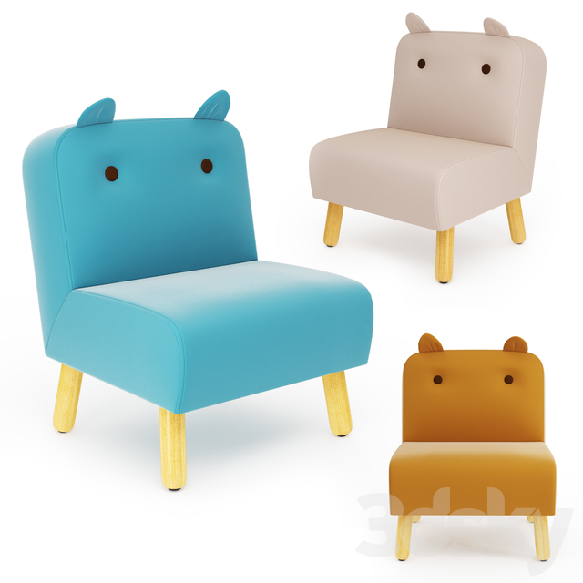 Jiggle /& Giggle Kids Chair Teal With Ears